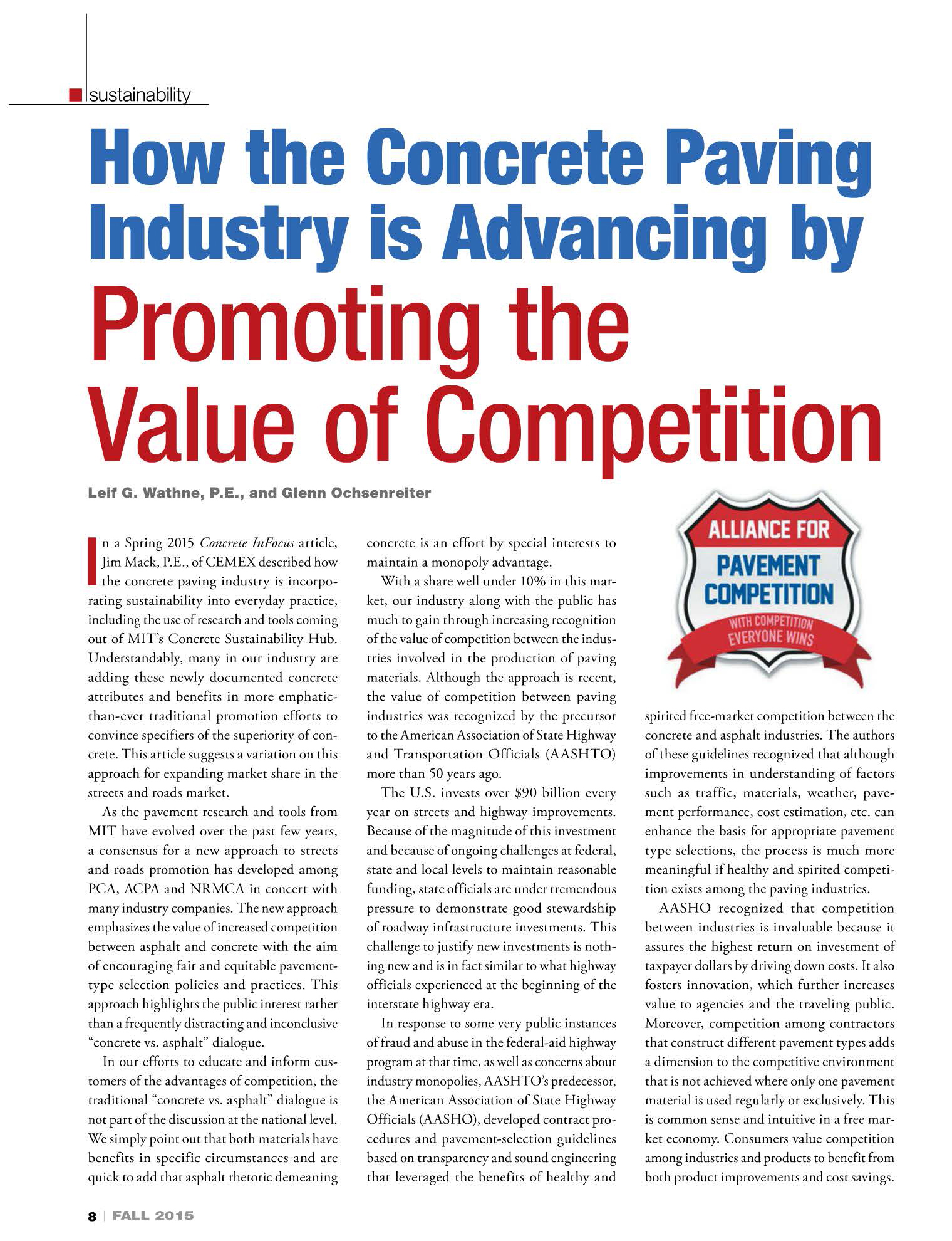 How the Concrete Paving Industry is Advancing by Promoting the Value of Competition