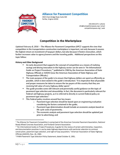 Competition in the Marketplace